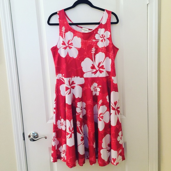 Cow Cow Hawaiian Dress- 2X Plus Size